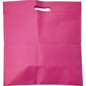 Nonwoven carry/document bag, pink (7858-17)