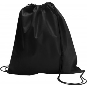 Nonwoven drawstring backpack, Black (6232-01)