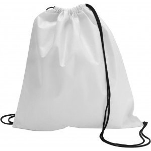 Nonwoven drawstring backpack, White (6232-02)