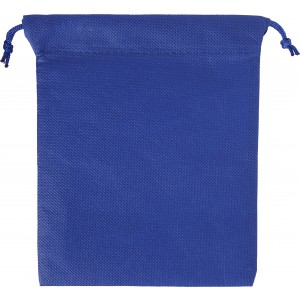Nonwoven, drawstring pouch, Blue (8279-05)