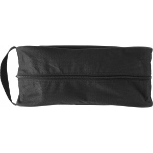 Nonwoven, zippered bag for shoes, black (6260-01)