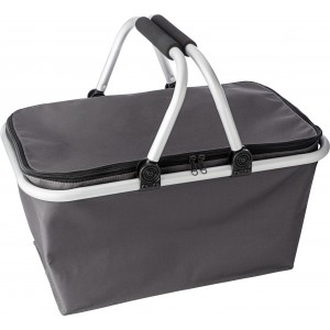 Oxford fabric foldable shopping basket., Grey (7508-03CD)