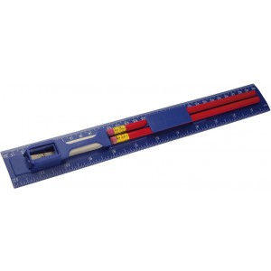Pencils, sharpener and eraser, blue (2959-05)