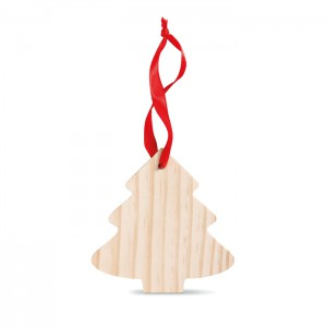 Pine tree shaped wooden hanger (CX1374-40)