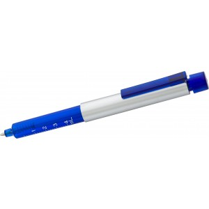 Plastic ballpen in shape of syringe, blue (5495-05)