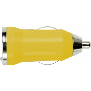 Plastic car power adapter, Yellow (3190-06)