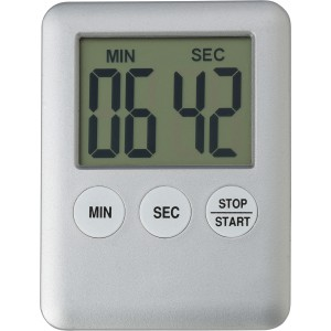 Plastic digital kitchen timer., Silver (6516-32)