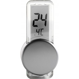 Plastic LCD thermometer, Silver (6201-32)