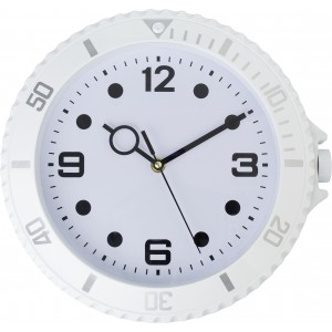 Plastic, modern wall clock, White (4578-02)