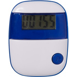 Plastic pedometer with a step counter., cobalt blue (4453-23)