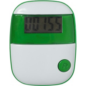 Plastic pedometer with a step counter., lime (4453-19)