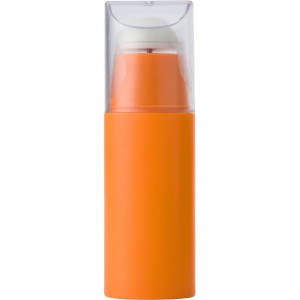 Plastic portable electronic fan, Orange (3322-07)