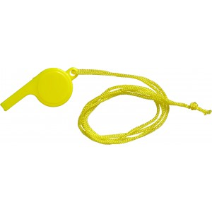 Plastic whistle, yellow (7060-06)