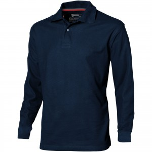 Point long sleeve men's polo, Navy (3310649)