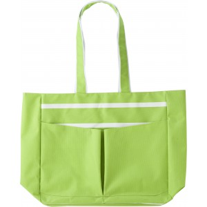 Polyester (600D) bright coloured beach bag., Light green (4345-19)