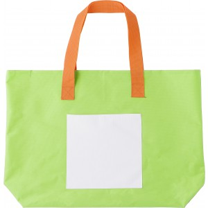 Polyester (600D) bright coloured beach bag., Light green (4388-19)