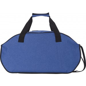 Polyester (600D) two-tone sports bag, cobalt blue (7950-23)