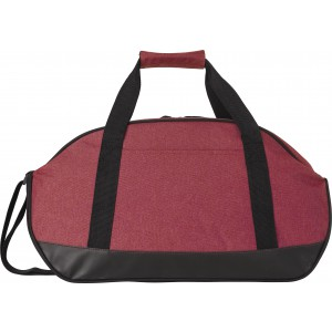 Polyester (600D) two-tone sports bag, red (7950-08)