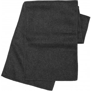 Polyester fleece scarf, black (Scarf)