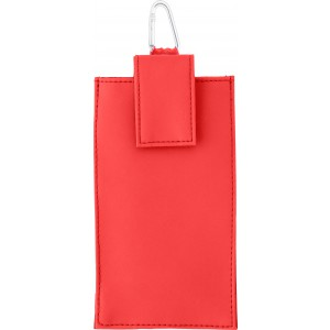 PU body safe/phone pouch, Red (1839-08)