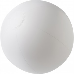 PVC inflatable beach ball., White (4188-02)