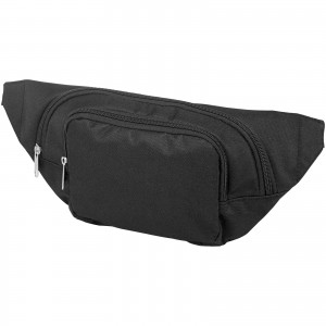Santander fanny pack with two compartments, solid black (11996700)