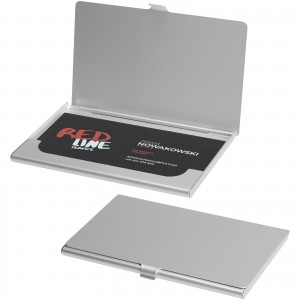 Shanghai business card holder, grey, 9,3 x 6 x 0,5 cm (10220100)