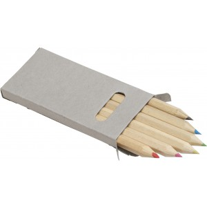 Six colour pencil set, neutral (Drawing set)