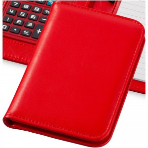 Smarti calculator notebook, red, 16,7 x 11,3 x 2,2 cm (10673402)