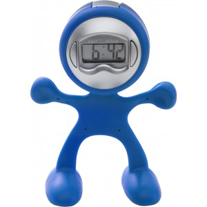 Sport-man clock with alarm, cobalt blue (3073-23)