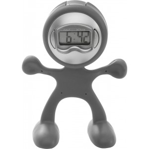 Sport-man clock with alarm, light grey (3073-27)