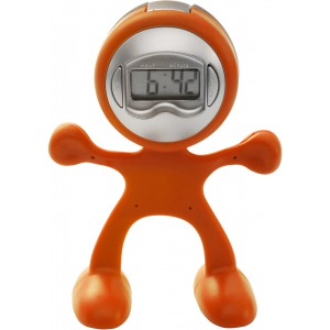 Sport-man clock with alarm, orange (3073-07)