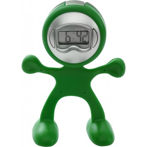 Sport-man clock with alarm, Pale green (3073-29)