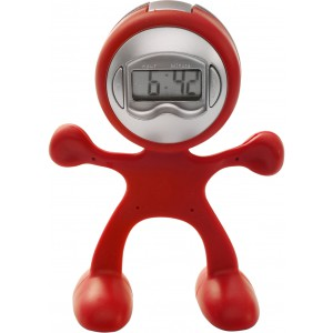 Sport-man clock with alarm, Red (3073-08)
