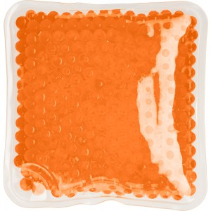 Square shaped plastic hot/cold pack, orange (7413-07)