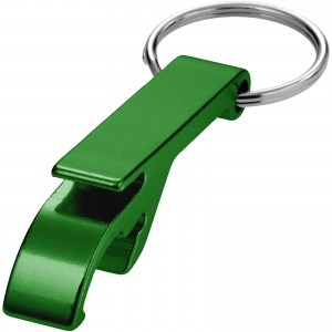 Tao alu bottle and can opener key chain, green, 5,5 x 1 x 1, (11801805)