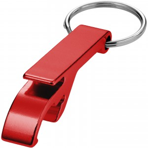 Tao alu bottle and can opener key chain, red, 5,5 x 1 x 1,5 (11801804)
