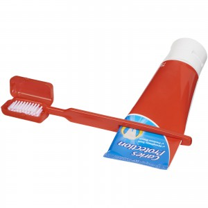 Toothbrush w/ squeezer , red (12613702)