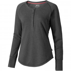 Touch long sleeve ladies shirt, grey, XS (3324398)