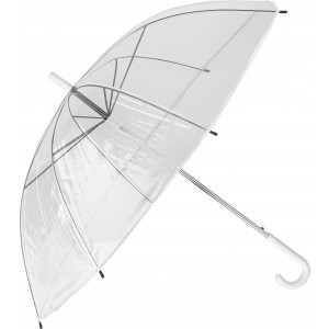 Transparent automatic umbrella, white (6487-02CD)