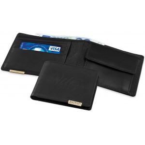 Wallet with coin compartment, black solid (11983200)