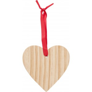 Wooden Christmas ornament Heart, brown (9050-11)