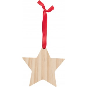 Wooden Christmas ornament Star, brown (9051-11)