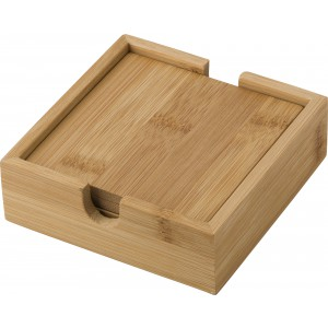Bamboo coaster set, bamboo (429379-823)