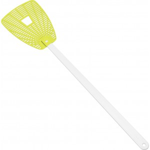 'Give the fly a chance' flyswatter, lime (3770-19)