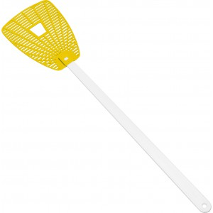 'Give the fly a chance' flyswatter, yellow (3770-06)