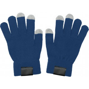 Gloves for capacitive screens., blue (5350-05)