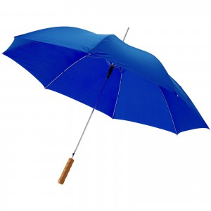 Lisa 23 auto open umbrella with wooden handle, Royal blue (10901709)