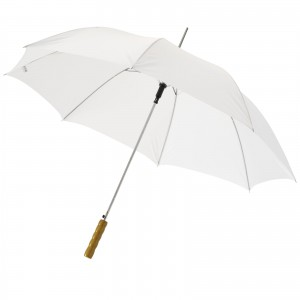 Lisa 23 auto open umbrella with wooden handle, White (19547890)