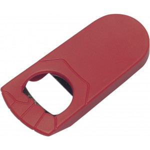 Plastic bottle opener, red (8419-08)